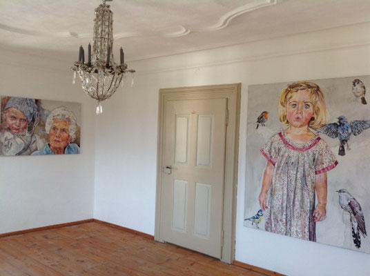 Helga Druml, Porträts, Öl auf Leinwand©Druml