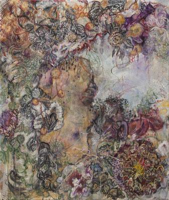 Karin Pliem, Fiume Lete con Navicula Diatomea, 2019,130x110cm, Öl_Leinwand (c) Richard Zazworka