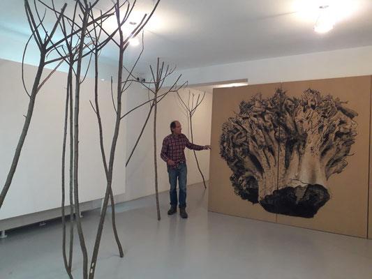 Manfred Bockelmann im Kunstraum in Klagenfurt, 2019 ©Galerie Walker