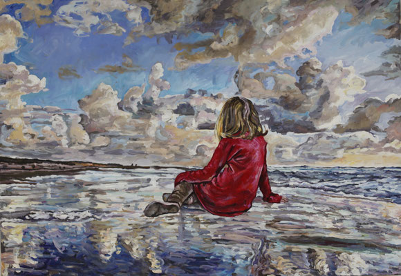 Helga Druml, Ohne Titel, 2015, Öl auf Leinwand, 140x200 cm, © bei der Künstlerin