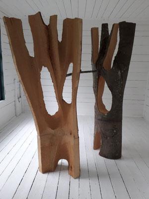 Ausstellung im Schloss Ebenau, Herbst 2019, Rainer Wulz im Gartenhaus  © Galerie Walker
