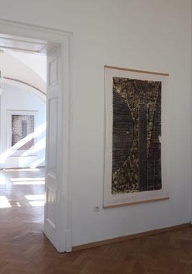 Einblick in die Ausstellung 'Zwischen Bild und Skulptur im Schloss Ebenau, Bild Johann Feilacher, Herbst 2019 ©Hermann Verderber