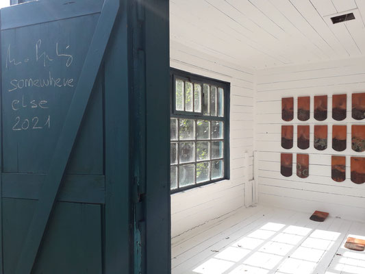 Arno Popotnig, Somewhere Else, Streuung 2021, Gartenhaus Intervention, Schloss Ebenau ©Galerie Walker