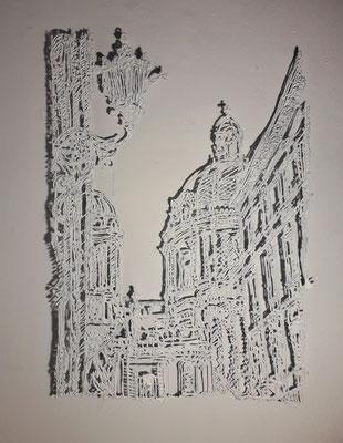 Gudrun Kampl, Engel, Ornamental Drawing, 2021 ©Galerie Walker