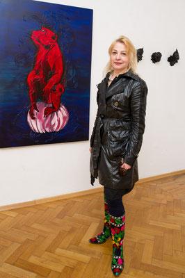 Ausstellung im Schloss Ebenau, Gudrun Kampl, 2019 © Dieter Arbeiter