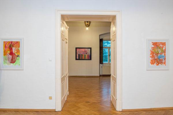 """Einblick in die Ausstellung """"Neueste Bilddichtungen"""" im Schloss Ebenau 2021 ©Dieter Arbeiter"""