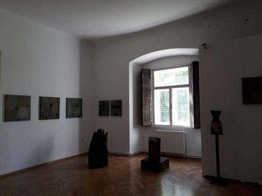 Ausstellung im Schloss Ebenau, Herbst 2019, Gustav Januš und Johann Feilacher  © Galerie Walker