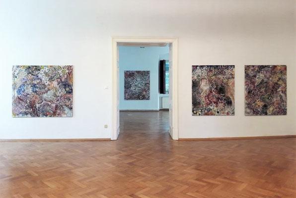 """Einblick in die Ausstellung """"Impuls Natur II"""" mit Karin Pliem im Schloss Ebenau, 2020 ©  Galerie Walker"""