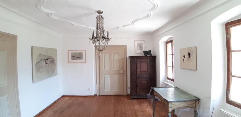 Ausstellung im Alten Pfarrhof in Saak, Peter Krawagna, Reisebilder, 2019 ©Galerie Walker