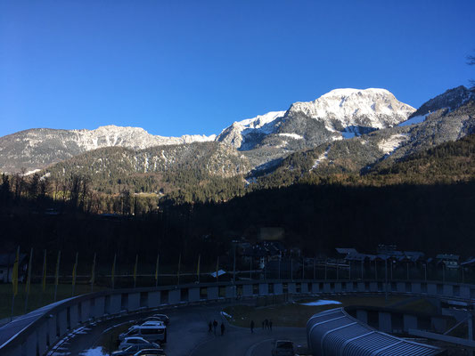 Schönstes Wetter zur Bayerischen Meisterschaft - Ausblick aus dem Auswertraum