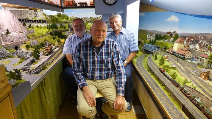 G. Arnold, Rolf Lauks (Marktoberdorf) und Arthur Thumann (Germering)