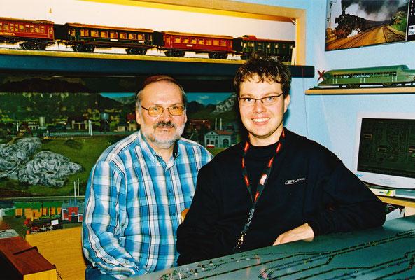 Arno Wilhelm von der Churer Modellbahnern 2004