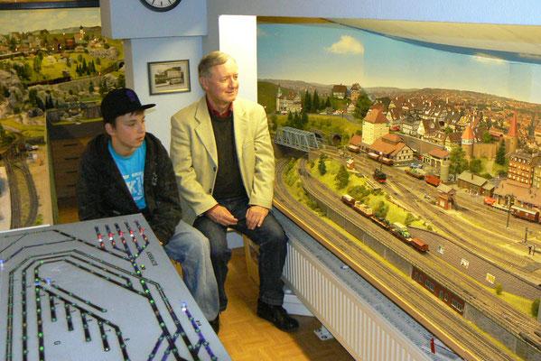 Jakob Stadler mit Papa Max Stadler (LK Passau)