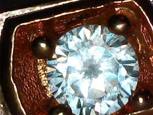 Diamant unter Mikroskop f