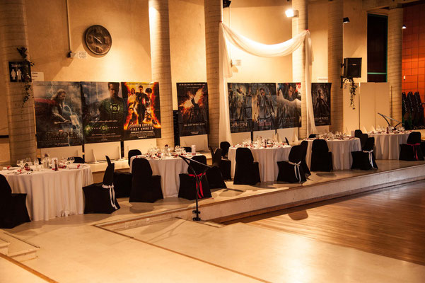 Deco Salle Cinema décoration de salle pour un mariage thème cinéma / soirée de gala