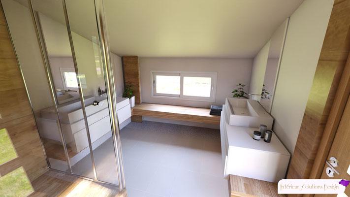 salle de bains style zen sous combles