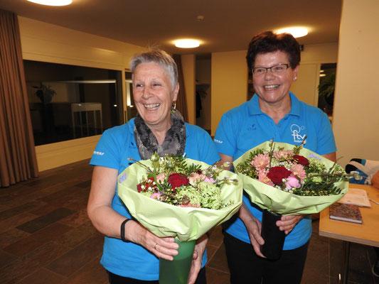 30 Jahre Mitglied: Marianne Michel und Margrit Meienberger