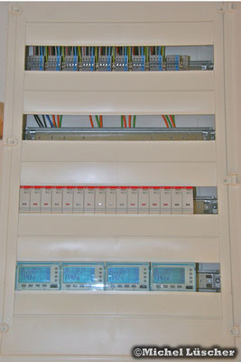Steuerungssystem UV/2 im Erdgeschoss (noch nicht beschriftet).