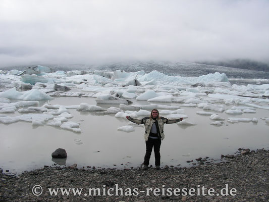 """Der """"kleine"""" Gletschersee Fjallsarlon (quasi der kleine Bruder des Jökulsarlon)"""