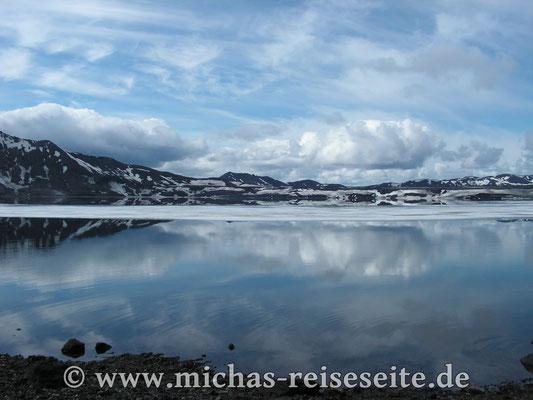 Der große Kratersee in Askja