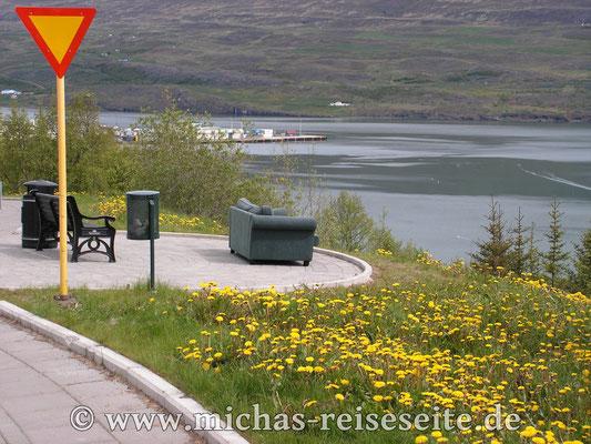Netter Aussichtspunkt in Akureyri