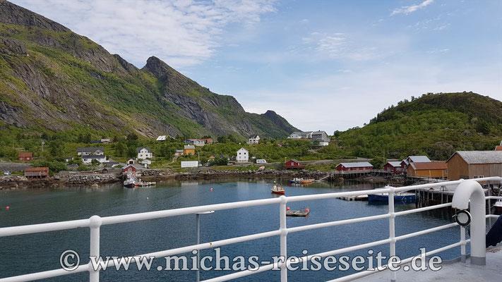 Mit der Fähre geht's weiter nach Bodø