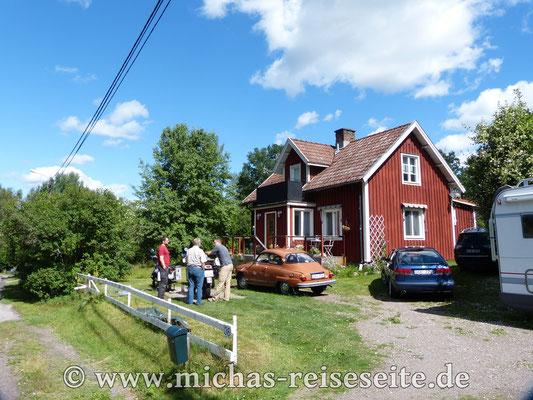 Zu Besuch bei Anne & Klaus. Zum Glück schien in Högsby die Sonne.