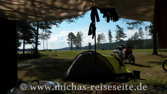 Camping in Idre.