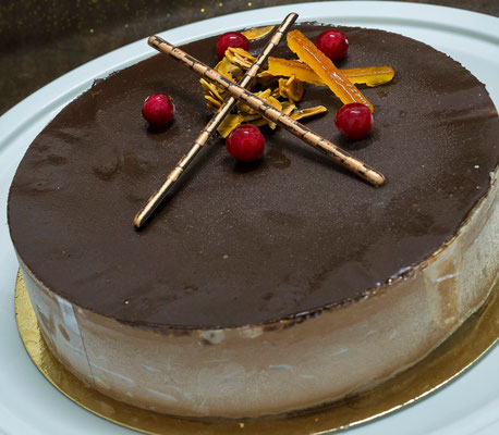Caroline, Parfait chocolat mousseline praline