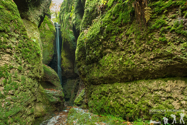 Kleiner Wasserfall in der Drachenschlucht, Foto: Melanie Kahl