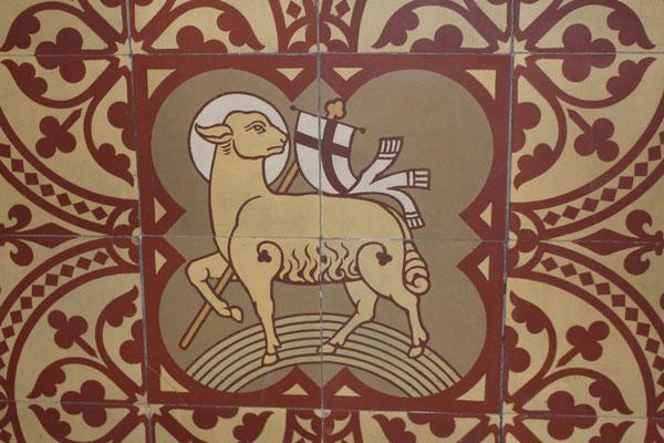 Dekorfliese mit Schaf