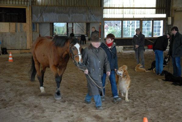 Thaler freut sich über ihren eigenen Mut neben dem Pferd