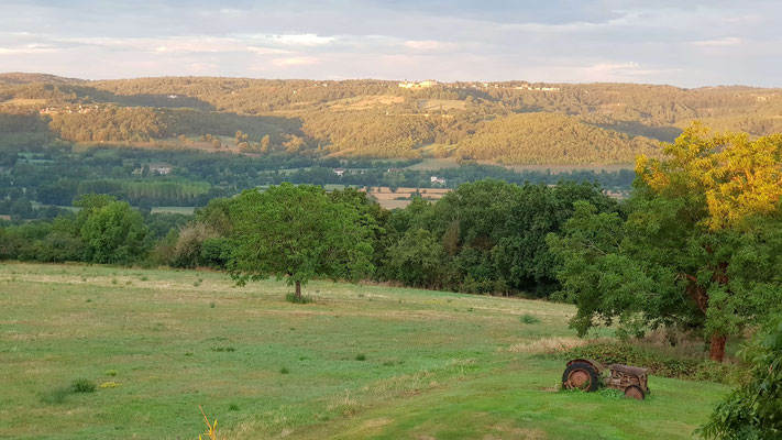 The view over the Dordogne valley from the Cuvier of saint Martin