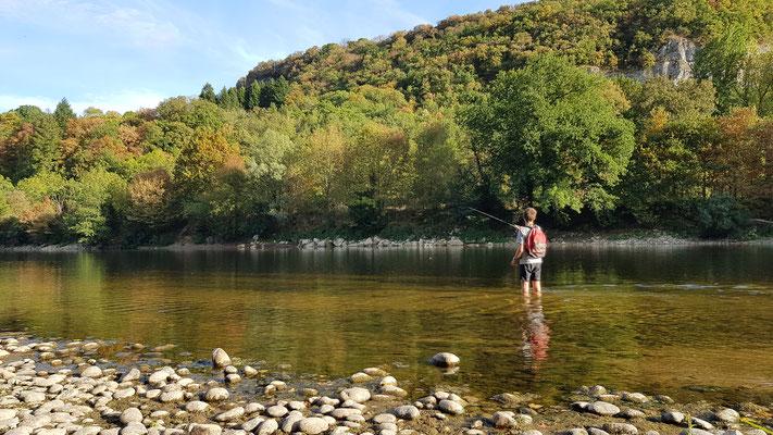 Pesca en el río Dordoña