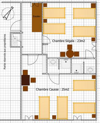 Plan 2ème niveau Cuvier de St Martin