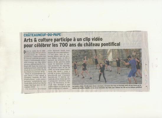 arts et culture. cLIP Danse 700 ans du Château