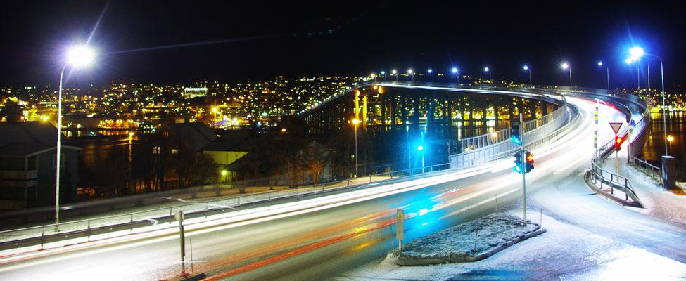 Vue sur la ville de nuit !