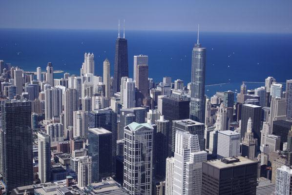 Vue sur Chicago depuis la Willis Tower !