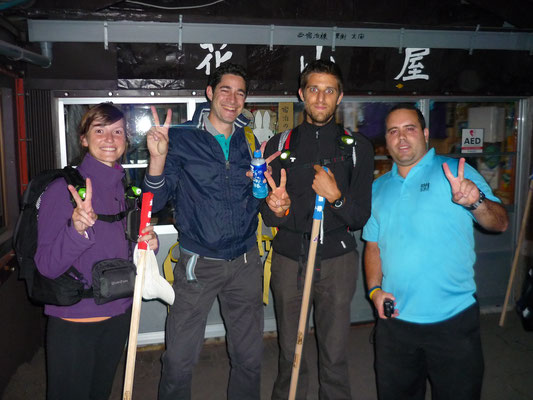 De belles rencontres faites pendant l'ascension du Mont Fuji !