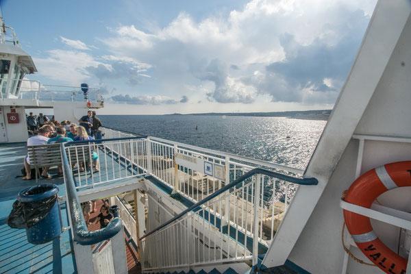 A bord du ferry entre Malte et Gozo !