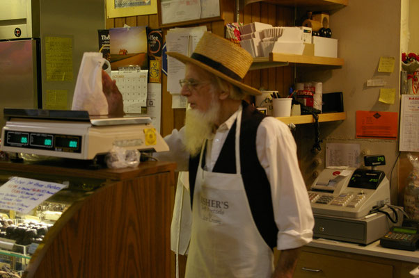 Les Amish viennent vendre leurs produits le samedi !