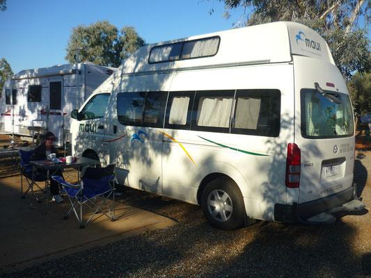 Paus café avec notre van !
