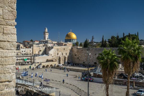 Vue sur le Dôme du Rocher à Jérusalem - Crédit Photo : Trip85.com