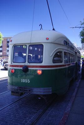 Un vieux tramway de San Francisco