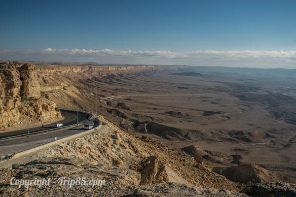 Vue sur le cratère de Mitzpe Ramon - Crédit Photo : trip85.com