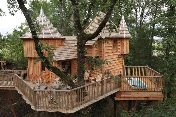 Milandes © Chateaux dans les arbres