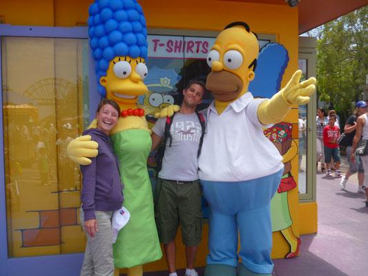 Photo avec les personnages des Simpsons !
