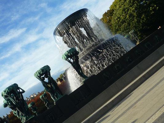 Le parc de Vigelandsparken à Oslo