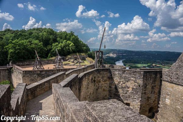 Le château de Castelnaud et ses machines de guerre du Moyen-âge