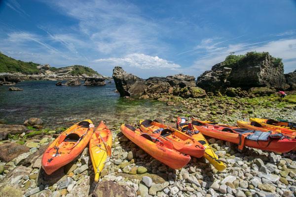 Sortie en kayak de mer pour faire du sport et découvrir la région autrement !